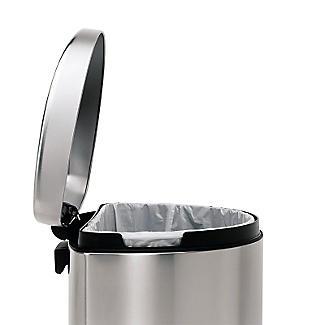 simplehuman Flatback Kitchen Waste Bin - Silver 40L alt image 4