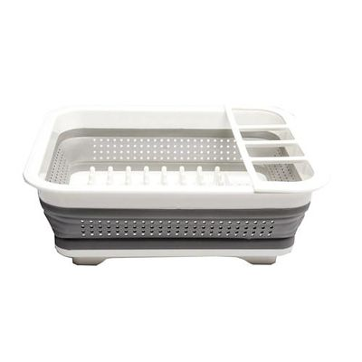 Small Madesmart Collapsible Dish Drainer Rack White