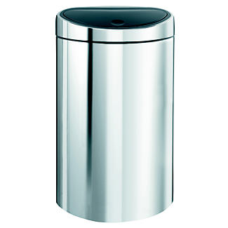 Brabantia® Soft Touch Lid Recycle Kitchen Waste Bin - Silver 10L/23L