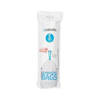 20 Brabantia Size E PerfectFit Drawstring Bin Bags 20L