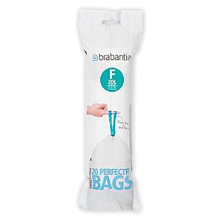 20 Brabantia Size F PerfectFit Drawstring Slim Bin Bags 20L