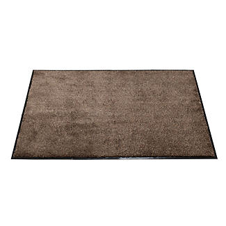 Microfibre Super-Absorbent Indoor Floor & Door Mat Coffee 80 x 60cm alt image 1