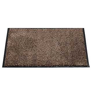 Microfibre Super-Absorbent Indoor Floor & Door Mat Coffee 60 x 40cm alt image 1