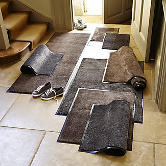 Microfibre Super-Absorbent Indoor Floor & Door Mat Coffee 60 x 40cm alt image 2