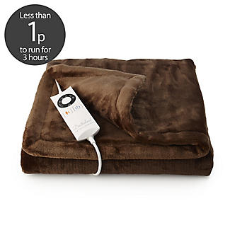 Sofa Snuggler Electric Heated Throw Brown - 70 x 150cm