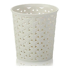 Faux Rattan Medium Storage Pot