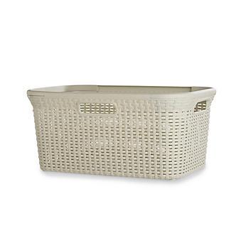 Curver Faux Rattan Washing Basket 45L