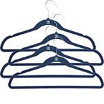 4 Blue Space Saving Non Slip Clothes Hangers
