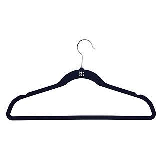 4 Blue Space Saving Non Slip Clothes Hangers alt image 3