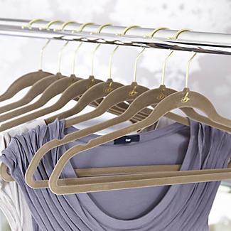 4 Caramel Space Saving Non Slip Clothes Hangers