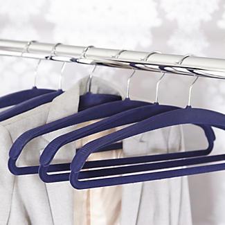 4 Blue Space Saving Non Slip Jacket Clothes Hangers