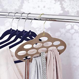 Caramel Space Saving Non Slip Scarf Accessory Hanger alt image 2