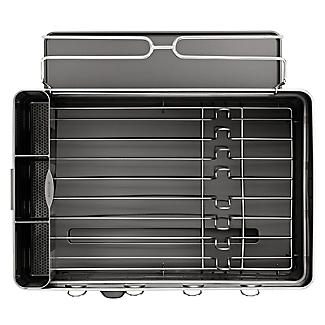 simplehuman Steel Frame Large Dish Drainer Rack - Silver and Grey alt image 6