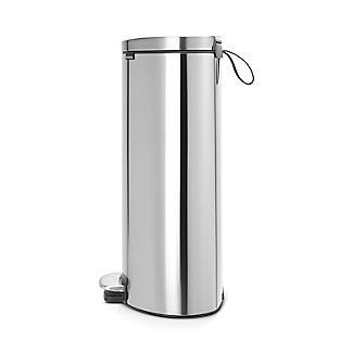 Brabantia® Flatback Kitchen Waste Pedal Bin - Silver 30L alt image 2