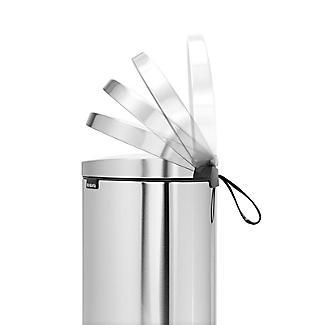 Brabantia® Flatback Kitchen Waste Pedal Bin - Silver 30L alt image 4