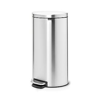 Brabantia® Flatback Kitchen Waste Pedal Bin - Silver 30L alt image 5