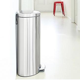Brabantia® Flatback Kitchen Waste Pedal Bin - Silver 30L alt image 7