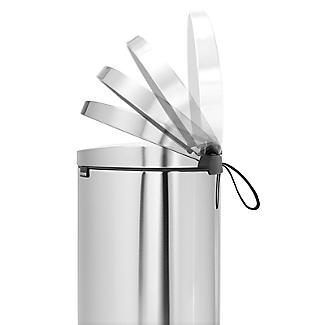Brabantia® Flatback Kitchen Waste Pedal Bin - Silver 40L alt image 5