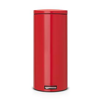 Brabantia® Motion Control Lid Kitchen Waste Pedal Bin - Red 30L