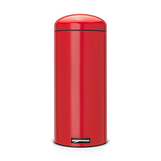 Brabantia® Retro Bin Motion Control Whisper Lid Stainless Steel and Deep Red 30 Litre