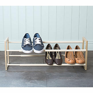 Extending and Stackable Steel Shoe Rack Champagne Cream alt image 5