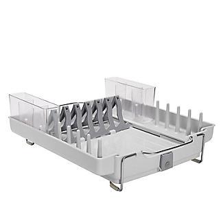 OXO Good Grips Foldaway Dish Drainer Rack - Light Grey alt image 4
