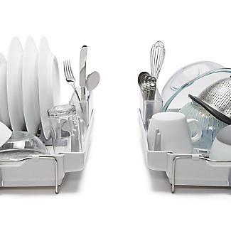 OXO Good Grips Foldaway Dish Drainer Rack - Light Grey alt image 5