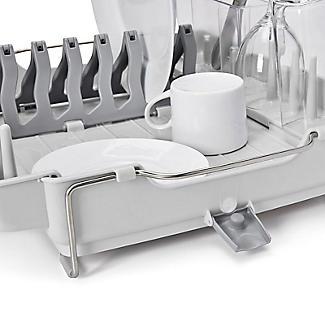 OXO Good Grips Foldaway Dish Drainer Rack - Light Grey alt image 6