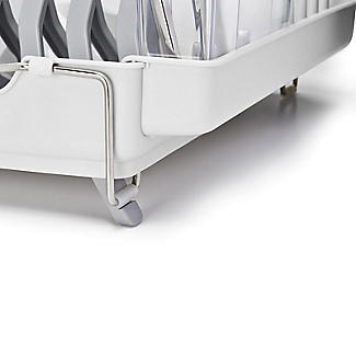 OXO Good Grips Foldaway Dish Drainer Rack - Light Grey alt image 7