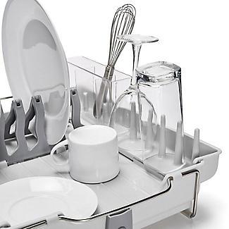 OXO Good Grips Foldaway Dish Drainer Rack - Light Grey alt image 8