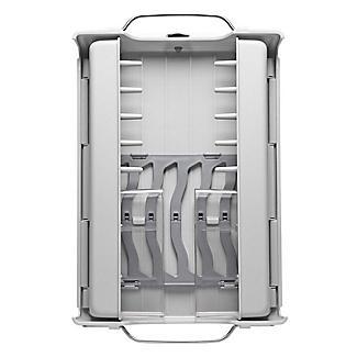 OXO Good Grips Foldaway Dish Drainer Rack - Light Grey alt image 9