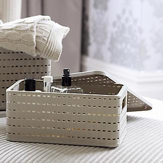 kleiner korb mit gitter effekt und deckel lakeland de. Black Bedroom Furniture Sets. Home Design Ideas