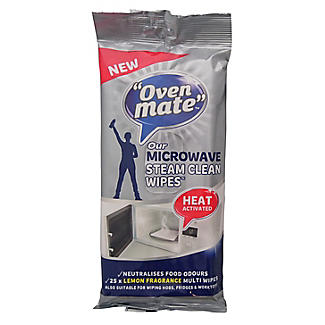 Oven Mate Microwave Steam Clean Cleaning Cloths X25 Lakeland
