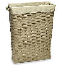 Slim Woven Lined Tall Laundry Basket 30L
