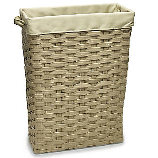 Slim Woven Lined Tall Laundry Basket 30L alt image 1