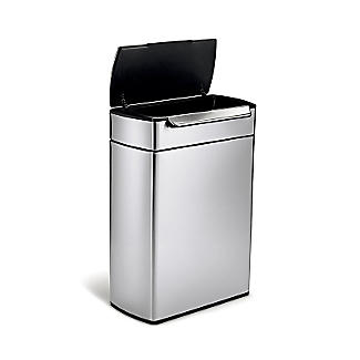 simplehuman Touch Bar Recycle Kitchen Waste Bin - Silver 48L alt image 3