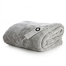 Faux Fur Electric Heated Throw Pearl Grey - 120 x 160cm