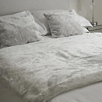 Faux Fur Electric Heated Throw Pearl Grey - 120 x 160cm alt image 3