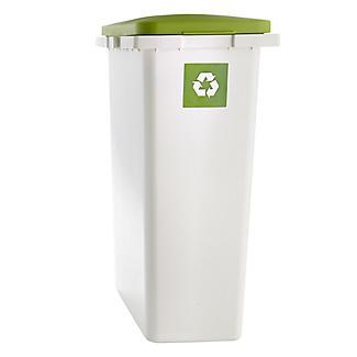 Lakeland Slimline Interlocking Recycle Kitchen Waste Bin - White 25L