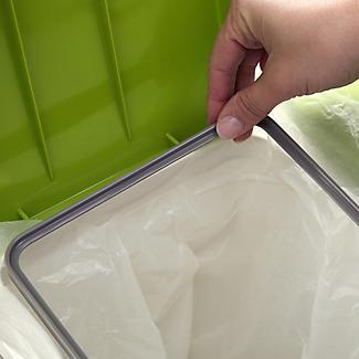 Lakeland Slimline Interlocking Recycle Kitchen Waste Bin - White 25L alt image 3