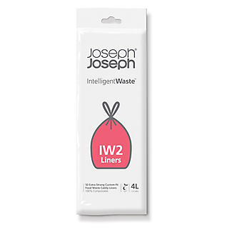 50 Joseph Joseph Intelligent Waste IW2 Food Caddy Liners 4L
