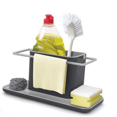 kitchen sink tidy joseph joseph caddy large sink tidy grey 2938