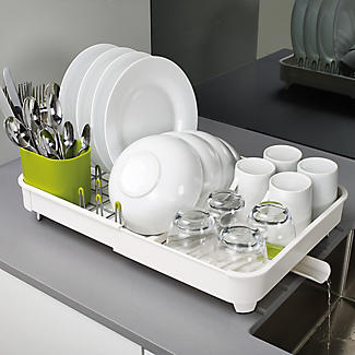 Joseph Joseph Extend Expandable Dish Drainer - White and Green alt image 4