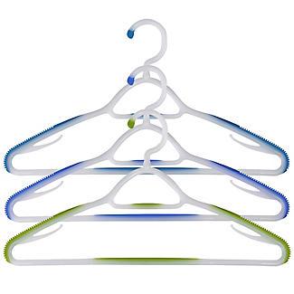 Soft Grip Non Slip Clothes Hangers Aqua 6 Pack alt image 2