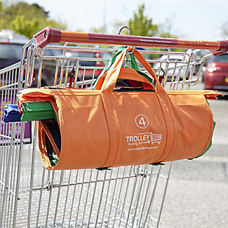 4 Reusable Supermarket Shopping Trolley Bags - Deep alt image 2