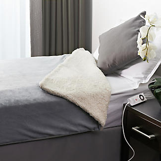 Velvety Electric Heated Throw Grey & Cream - 135 x 180cm alt image 4