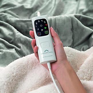 Velvety Electric Heated Throw Grey & Cream - 135 x 180cm alt image 4
