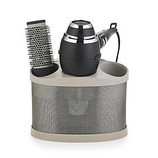 Style Station Hairdryer & Straighteners Storage Holder - Brown