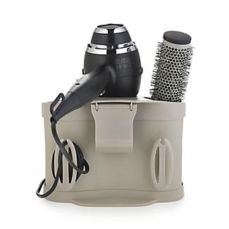 Style Station Hairdryer & Straighteners Storage Holder - Brown alt image 2