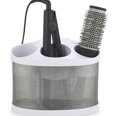 Style Station Pro Hairdryer Storage Holder White Lakeland